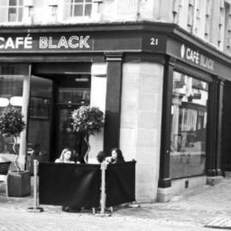 Cafe Black; 21 High Street, Stamford, PE9 2LF. Highly rated by TripAdvisor.