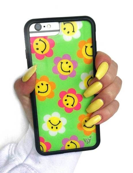 6f60be5c23c75e Smiley Flowers iPhone 6/7/8 Plus Case – Wildflower Cases   Cases ...