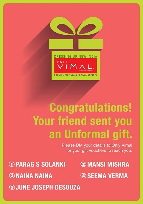 Congratulations to all the winners who have won The Unformal Gifting this week. Don't forget to DM us your contact details.