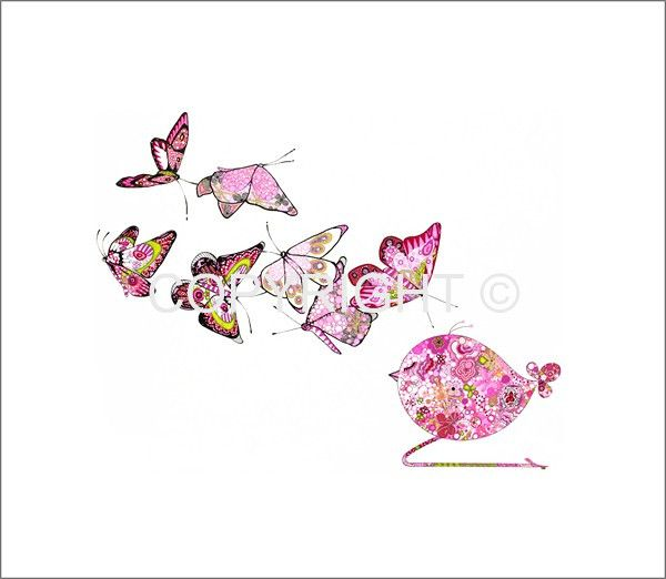 Love this pen and ink artwork by Carolyn Boyd in New Zealand. Little Pink Sleeping Bird
