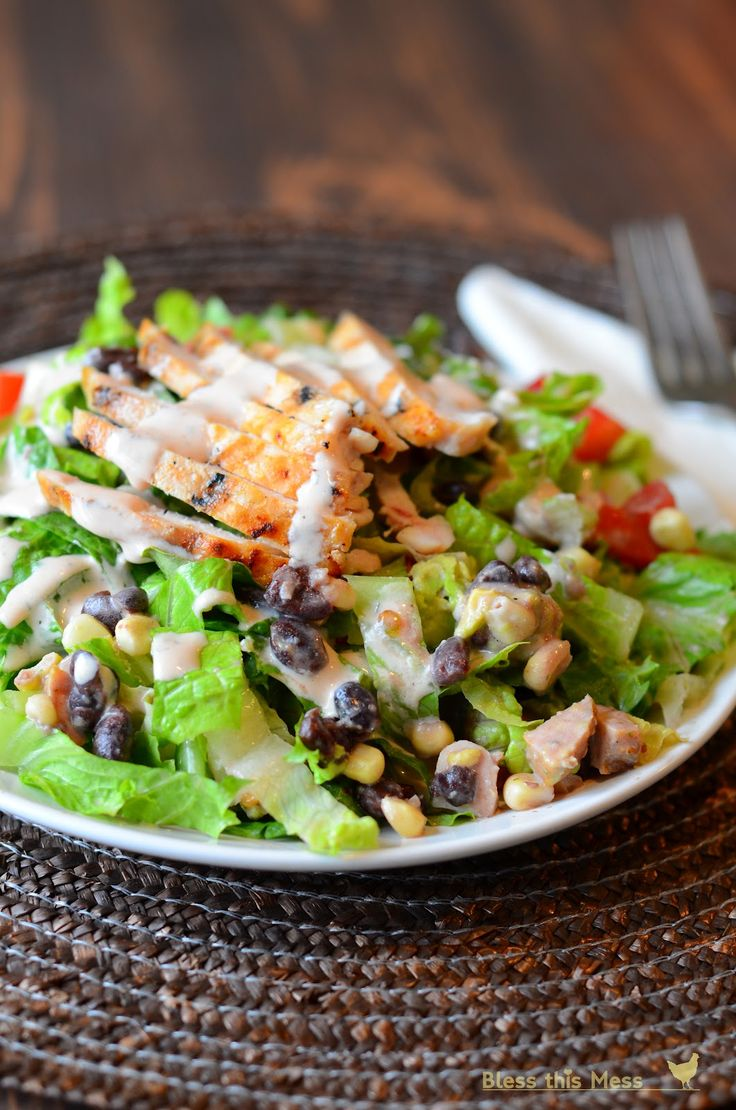 Barbecue Ranch Chicken Salad #lowcarb #protein