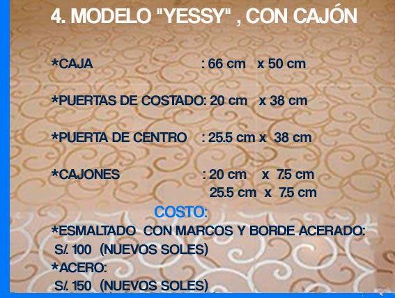 """GABINETE PARA BAÑO  4. MODELO """"YESSY"""", CON CAJÓN"""