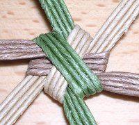 花結び編み裏側