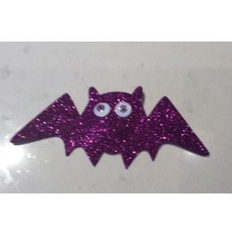 Purple Glitter Bat Hair Clip