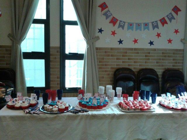 Mesa dulce temática Estados Unidos