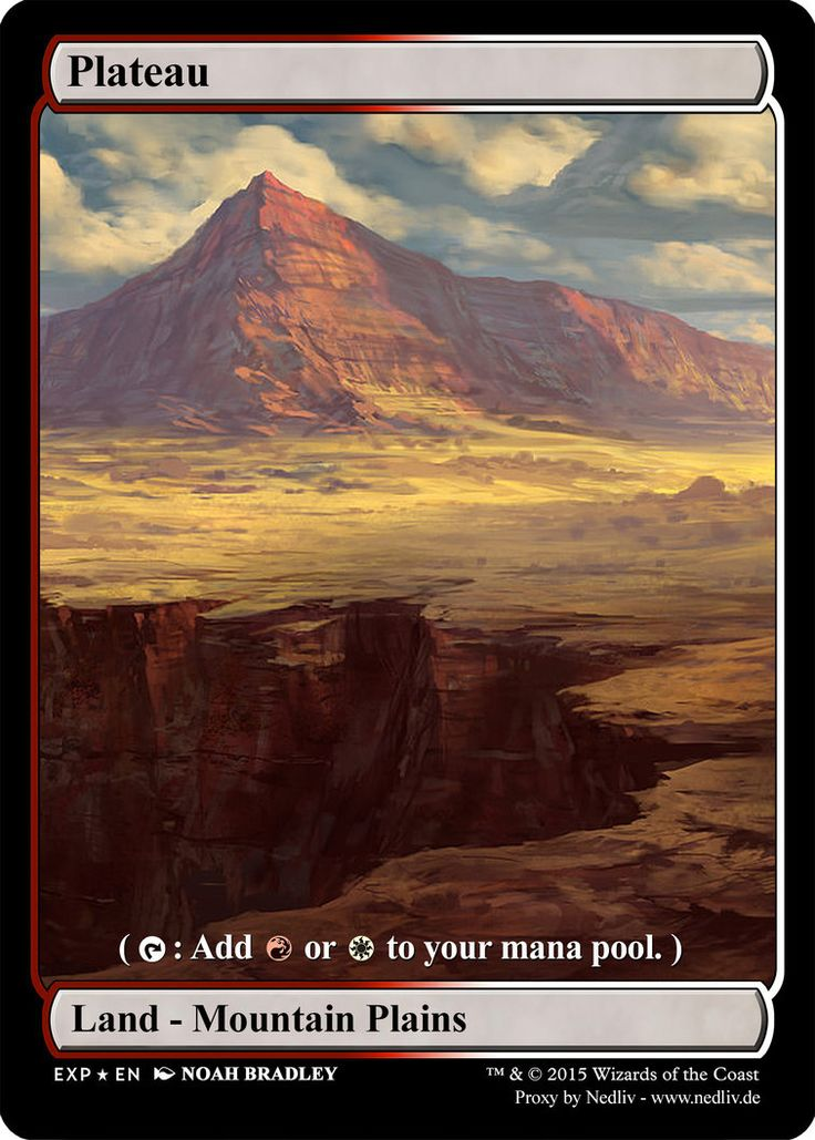 MTG - Altered Fullart Proxy - Plateau by Nedliv on DeviantArt