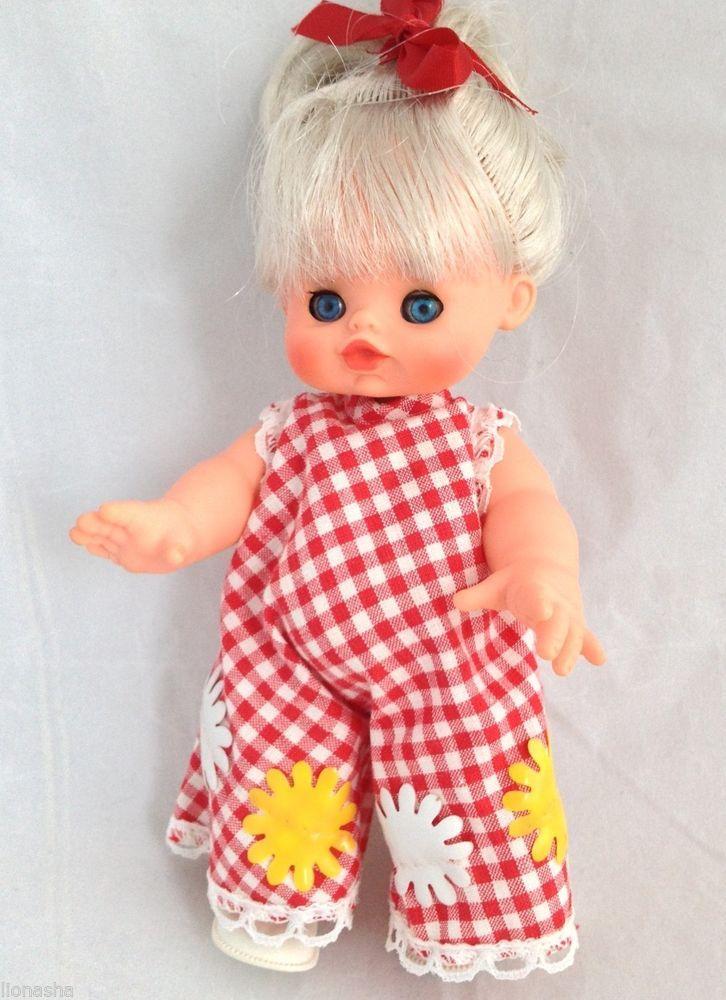 "VTG Mini Furga Little Signorinas Blonde Tilly Mod Jumpsuit 7"" Doll Made In Italy"