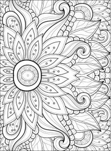 adult coloring pages flowers 2 2 - Stress Free Coloring Pages