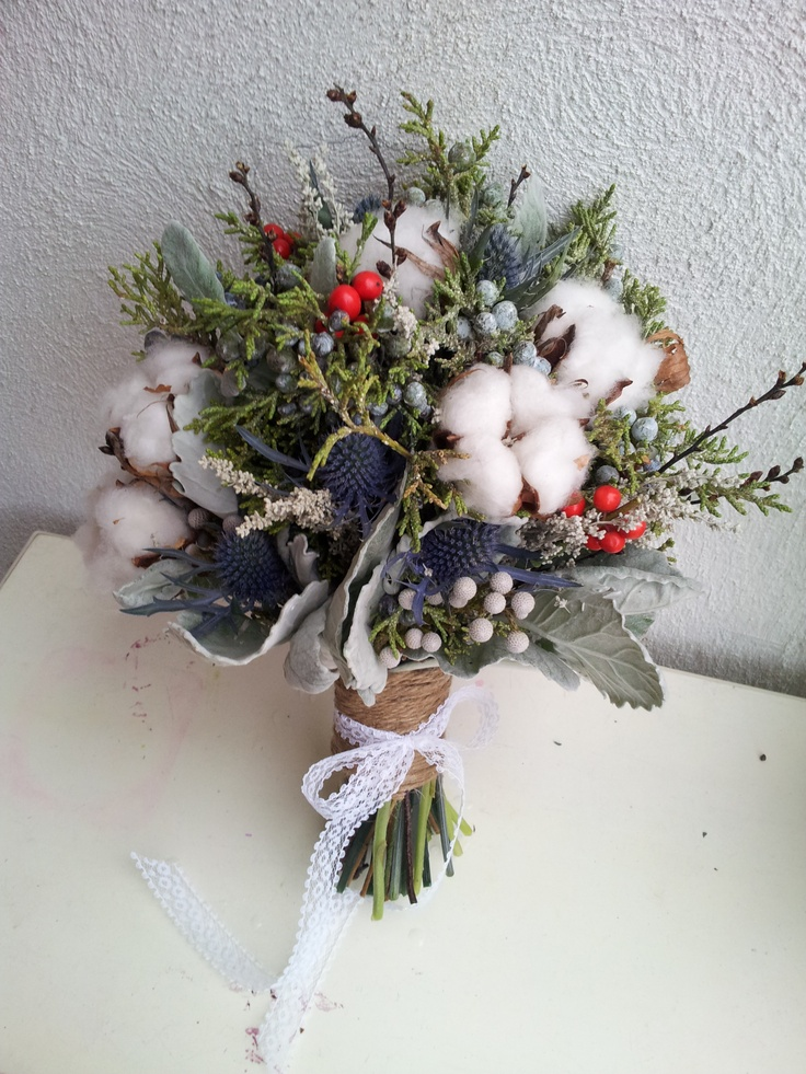 Non Fl Winter Bridal Bouquet