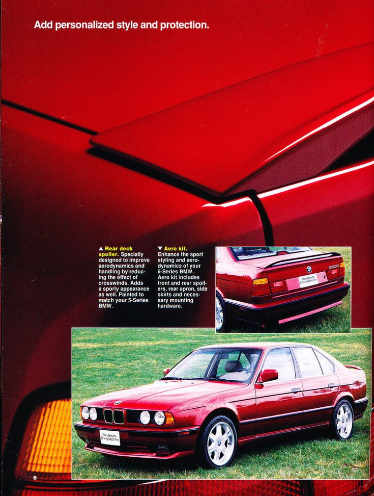 1992 1993 bmw 52 page car accessories brochure catalog 318ti 850i 740i m3 m5 bmw e32 bmw. Black Bedroom Furniture Sets. Home Design Ideas
