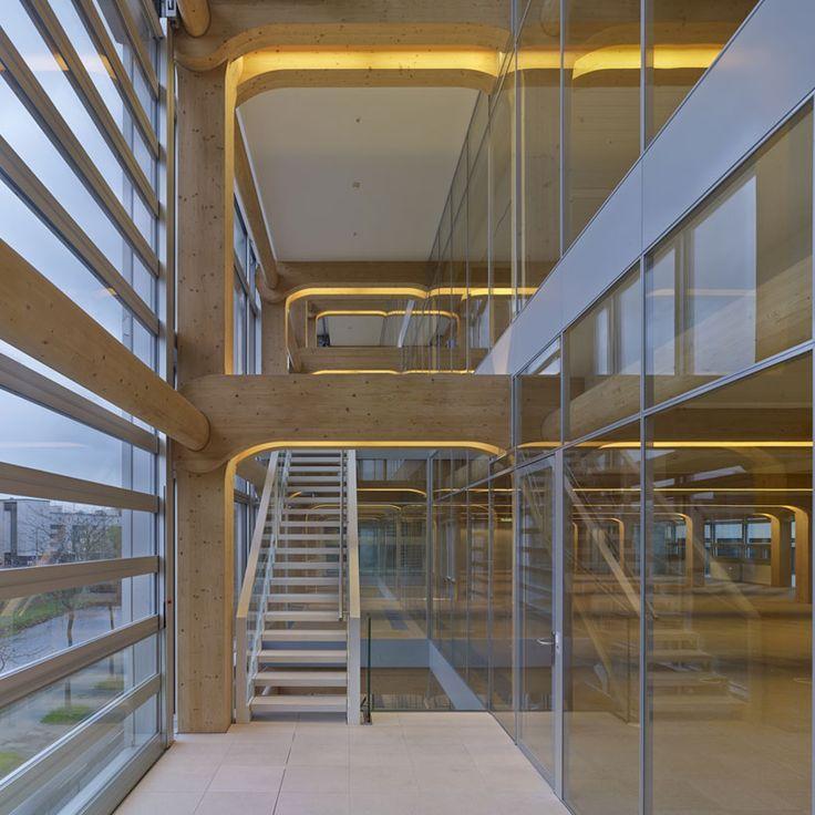 Tamedia office building zurich switzerland shigeru for Architecture ephemere shigeru ban