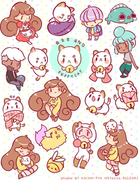 Bee and PuppyCat fan art by kaiami~