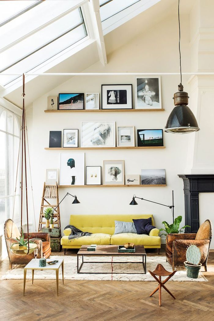 Our home, like many of you, has a high ceiling. It was one of the things  that attracted us to the space. It was like a blank canvas we could  redesign and the high ceilings with windows gave us a lot of ideas. The  ceiling is 2 stories tall in the living room and foyer and right now is  beige and void of style.  High ceilings, without treatment can seem bare and stark.So here are  sixtexture rich ideas that will add personality to your space!  1. Wood paneled ceiling  This space works…