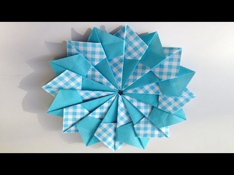 【おりがみ】コースター【Origami】coaster - YouTube
