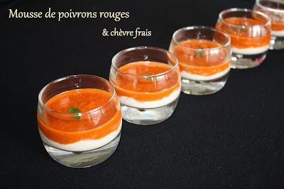 Verrines de mousse de poivrons et de fromage frais - Kriket's cooking !