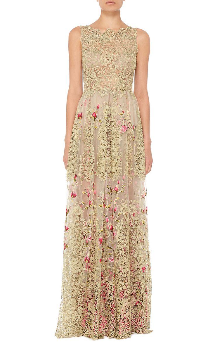 Patricia Bonaldi Bateau Neck Lace Dress - Preorder now on Moda Operandi