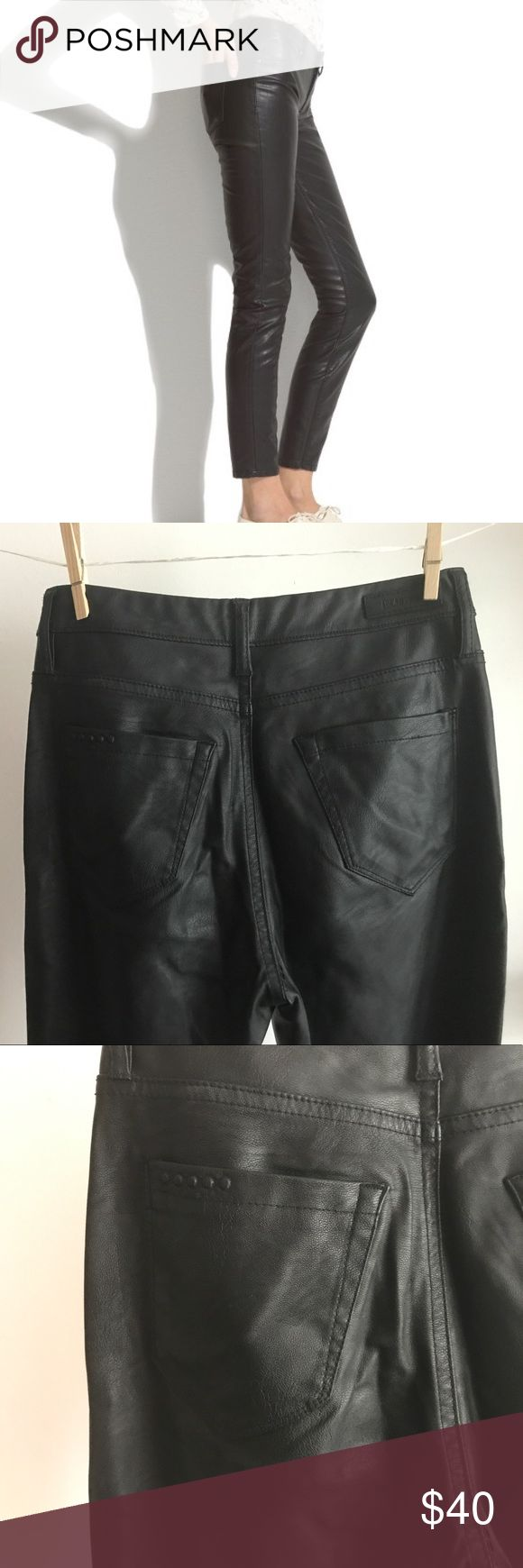 """BlankNYC faux leather pants Dress these up or down! Poly and viscose """"leather"""" pants. Love these pants because they're not as tight as most leather leggings, and can be worn more casually. Blank NYC Pants Skinny"""