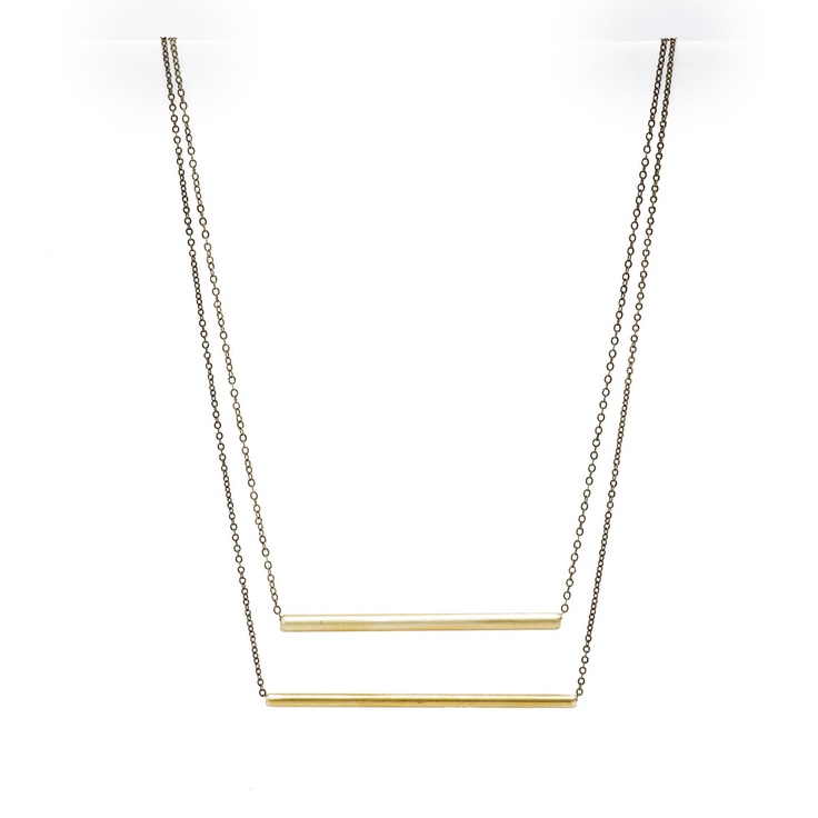 Rounded Ladder Necklace  by Stone + Smith