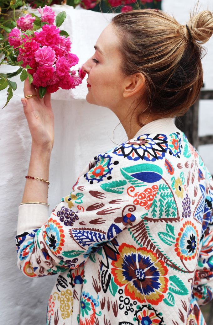 My Style | Boden Floral Bomber Jacket - Coco's Tea Party