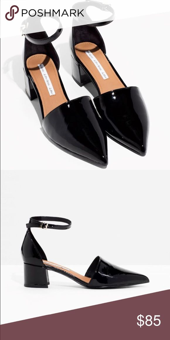 & Other Stories Black Patent Shoes & Other Stories Black Patent Shoes, women's size 8. Worn once to a wedding. Slight wrinkle on patent leather now, please see image. In really great condition, just don't have any additional occasion to wear them. & Other Stories Shoes