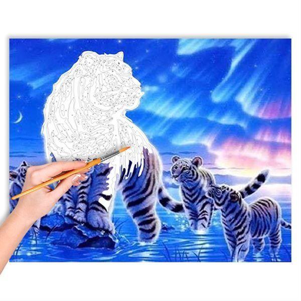Malen Nach Zahlen Das Polarlicht Und Die Tiger Malango De In 2020 Malen Nach Zahlen Malen Nach Zahlen Leinwand Kunstwerke