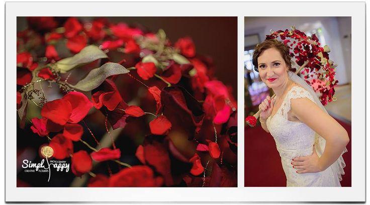 Bridal Floral Umbrella by Simply Happy www.facebook.com/faitamain www.simplyhappy.ro