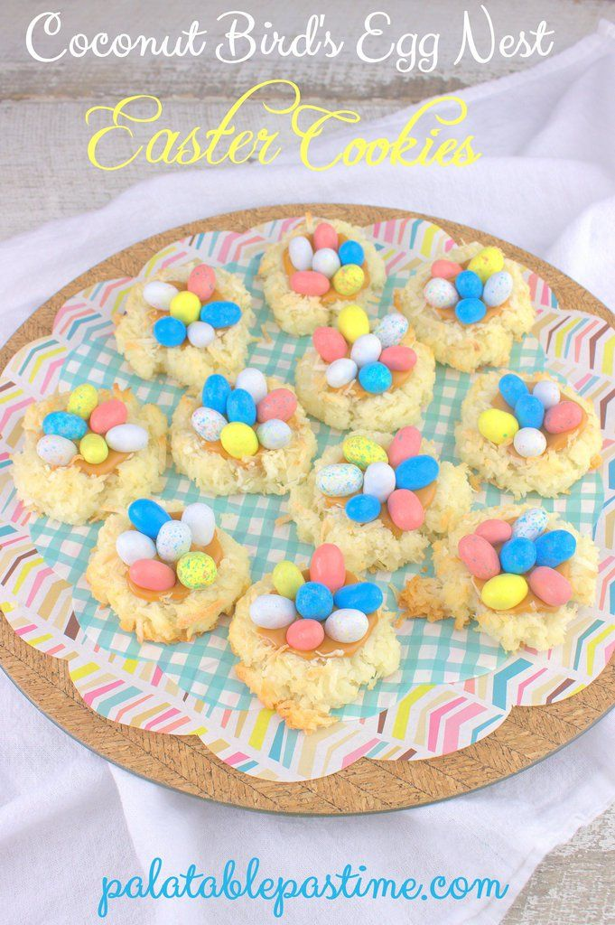 Easter Coconut Bird's Egg Nests for #FoodieExtravaganza