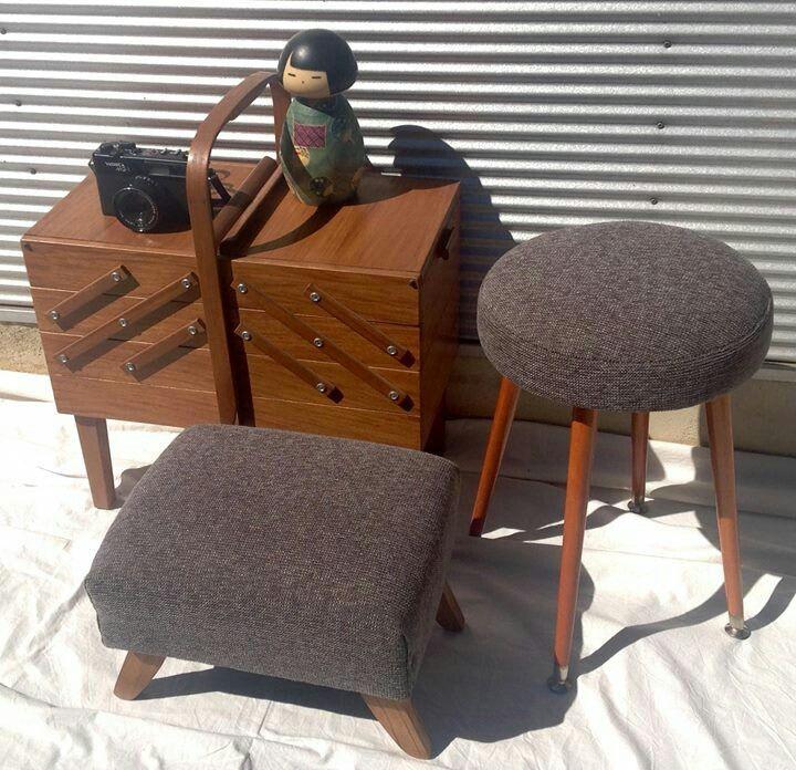 restored retro 60's footstools - etsy.com/shop/littlebitmelq