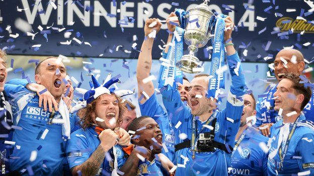 In the end, history could not be denied and St Johnstone won the first major trophy of their 130-year history. Steven Anderson and Steven MacLean scored in each half as the Perth side lifted the Scottish Cup at Celtic Park.