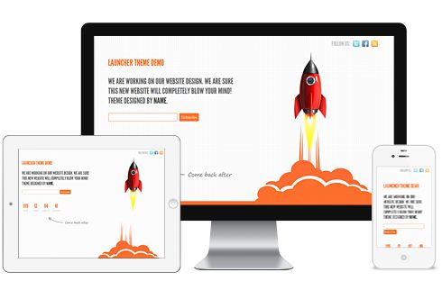 Launcher A Free Launching Soon Under Construction Responsive WordPress Theme