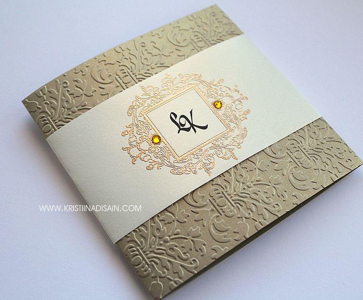 vintage gold and ivory wedding invitation