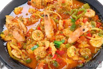 Receita de Paella de frutos do mar em receitas de crustaceos, veja essa e outras receitas aqui!