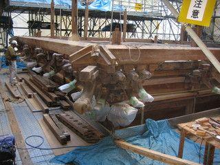 1>IMG_4596::羽黒神社地垂木 取り付け前の下地