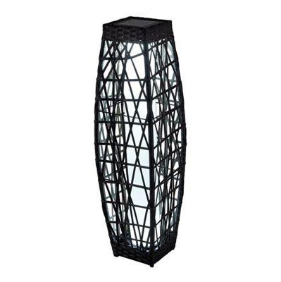 Allen 30-in Savona Brown Outdor Solar LED Lantern