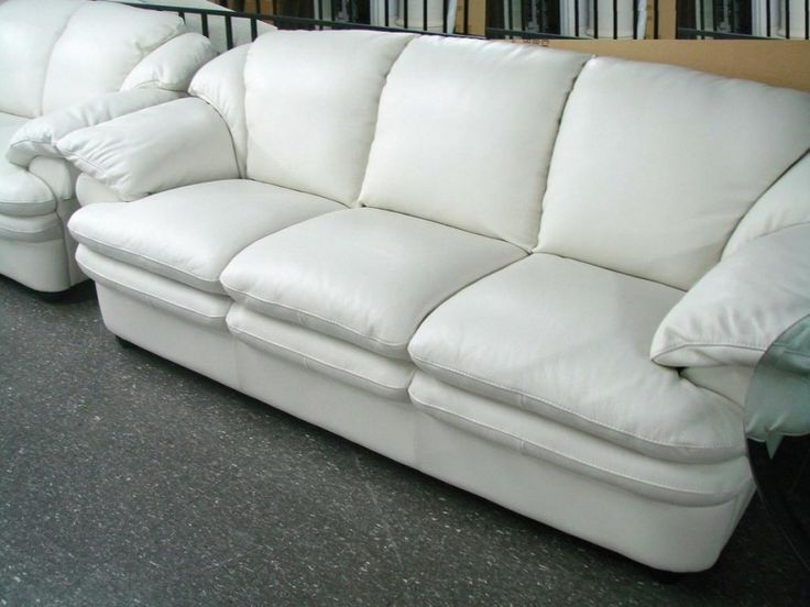 White Leather Sofas For Sale