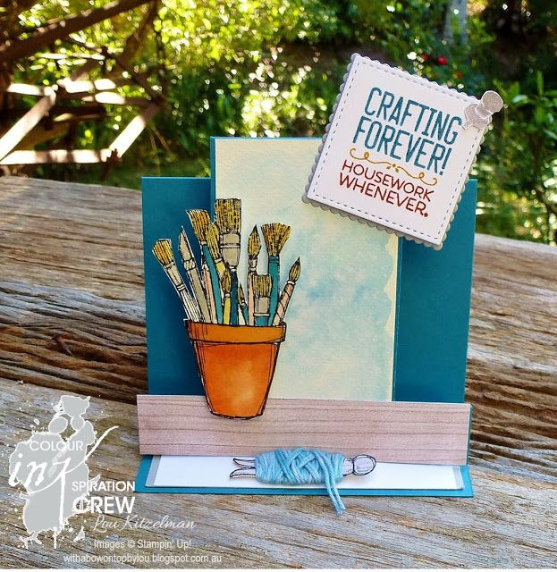 With a bow on top, Colour INKspiration # 10 challenge, Crafting Forever, Stampin' Up!