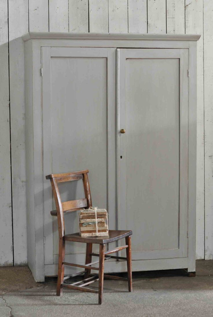 Vintage Painted Two Door School Cupboard Shelves. Ideal for bedroom or kitchen storage this solid pine unit makes the most fabulous storage.