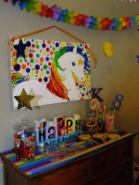 Starlite candy table at Rainbow Brite party!