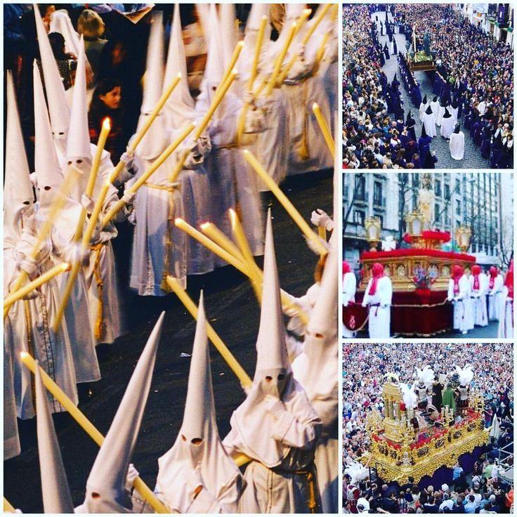 La #SemanaSanta española está a la espera de ser declarada manifestación representativa del #PatrimonioCulturalInmaterialDeLaHumanidad. En prácticamente todo el país se celebran #procesiones organizadas por #hermandades o #cofradías. Desde el #DomingoDeRamos hasta el #DomingoDeResurrección impresionantes #pasos recorren las calles de #España protagonizados por los hermanos #nazarenos o penitentes. #spain #spanishtraditions #easter #enjoyspain #spanishzoom