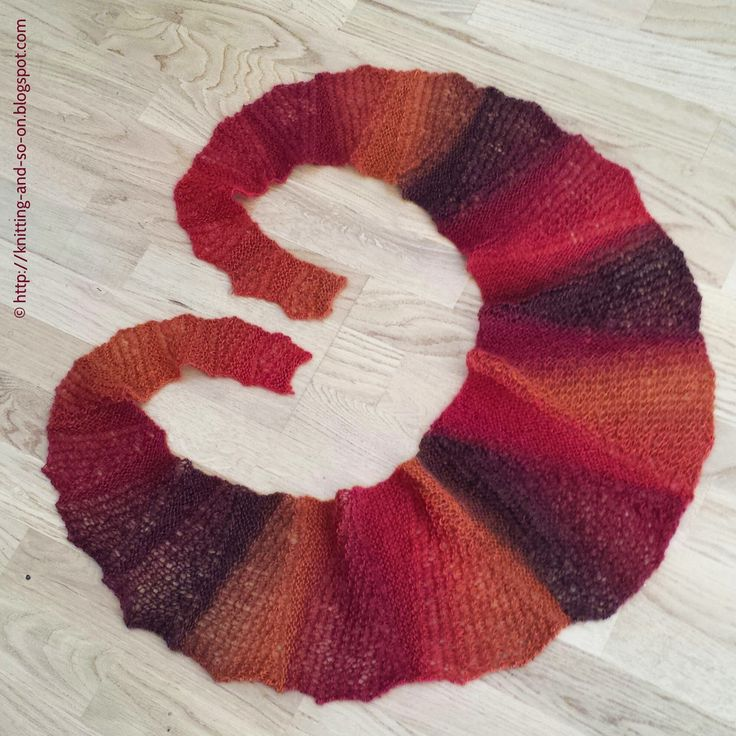 Free Knitting Pattern: Through Thick and Thin Scarf
