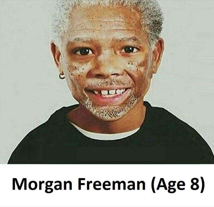 young morgan freeman