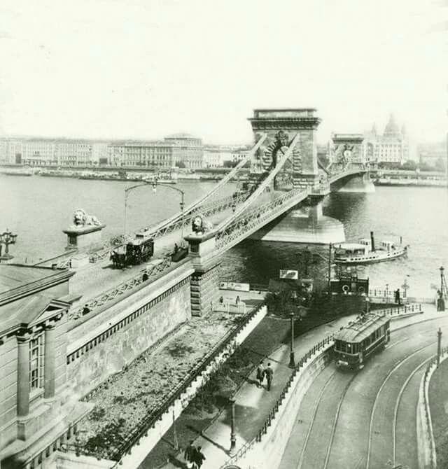 1905 körül. Lánchíd.