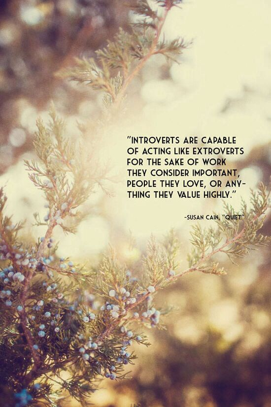 For what I love and value high, I can be an extrovert... on occasion