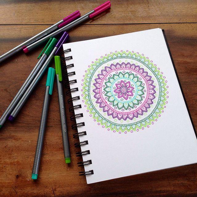 Mandala - Felt Tip Pens | Flickr - Photo Sharing!