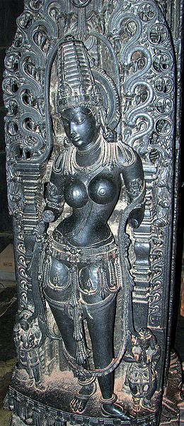 Mohini (avatar of Vishnu) in Belur temple
