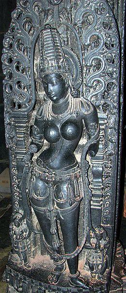 Mohini (avatar of Vishnu) in Belur temple