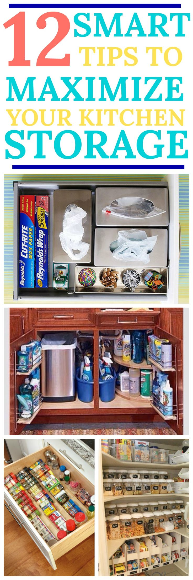 Smart tips to organise and maximise your kitchen storage.