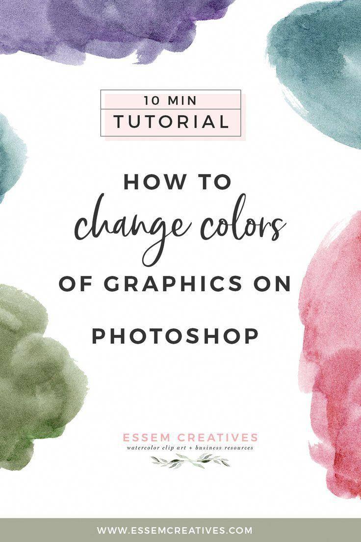 Do You Want To Change The Colors Of Some Watercolour Graphics