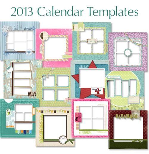 Great Calendar Ideas : Free calendar printables great for scrapbooking too