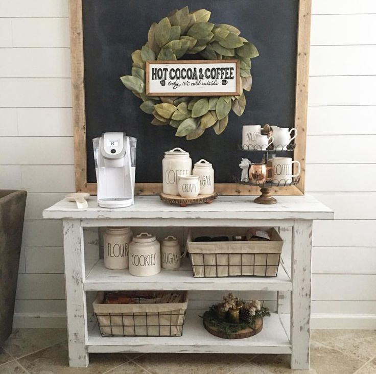 Winter Styling Coffee Station Bar Nelly Friedel Home